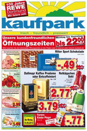 Ritter Sport 100g 49 Cent bei Kaufpark im Ruhrpott (evtl. auch Bundesweit)