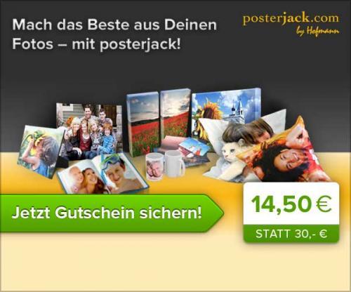 [Quicker] Posterjack.com 30€ Gutschein für 14,50