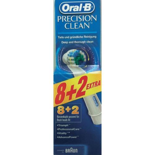 Wieder verfügbar! Braun Oral-B Precision Clean Ersatzbürsten 8+2 Sparpack für 20,01 € @conrad