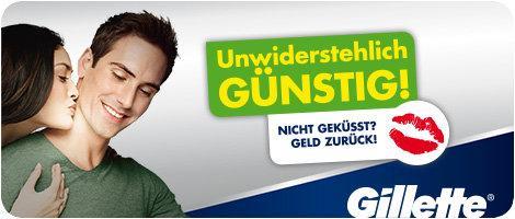 AMAZON: Gillette Rasierer im Doppelpack kaufen und sparen - mit Geld-zurück-Garantie