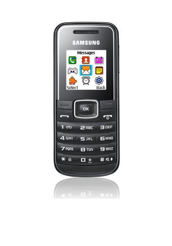 Samsung E1050 black, B-Ware bei modeo.de für 7,95 € zzgl. Versand 4,99 € = 12,94