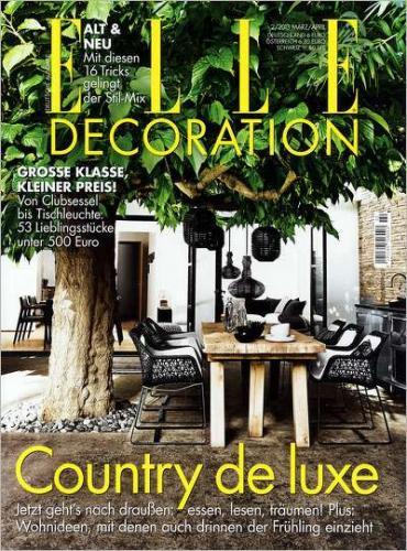 3x Elle Decoration für 18 € inkl. 15 Euro Verrechnungsscheck