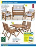 """(Lokal? Offline) Gartenmöbel """"Altivo"""", 4 Stühle + Tisch (ähnlich Trient von Max Bahr) aus Eukalyptus bei Praktiker für 162,49 €"""
