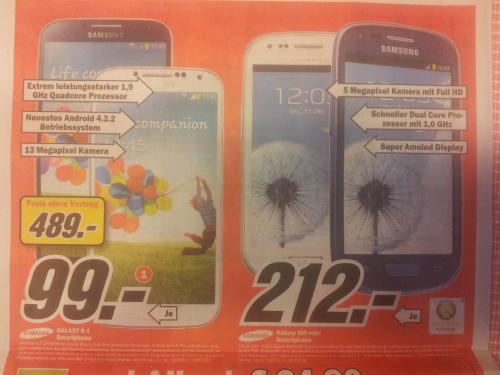 [LOKAL] Köln, Media Markt, Samsung Galaxy S4 für 489,-€