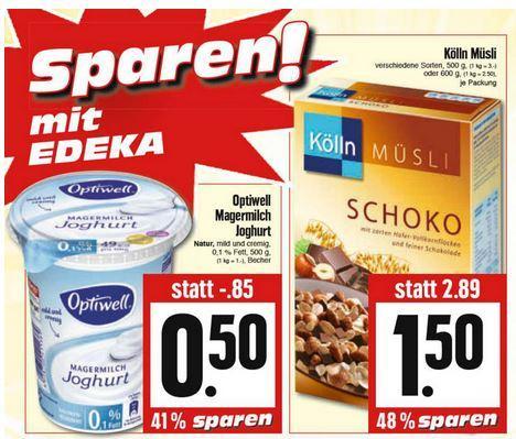[lokal Edeka Kassel] Köln Müsli (500 - 600 g) für 1,50€