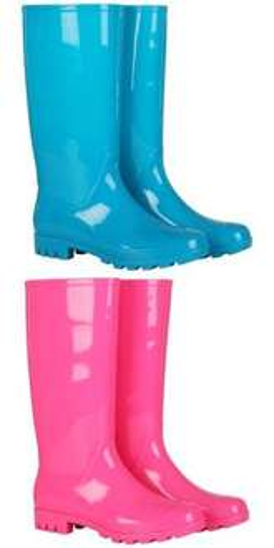 Fame & Fortune™ - Damen Gummistiefel (Blau, Pink) für €5,86 [@Zavvi.com]