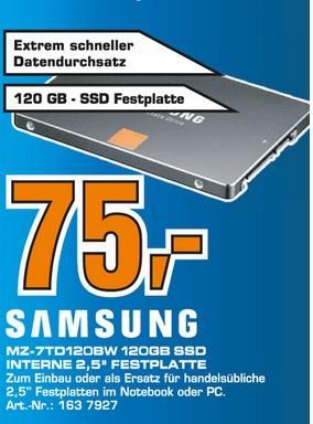 [LOKAL FRANKFURT A.M. SATURN] Samsung SSD 840 Series Basic 120GB - (MZ-7TD120BW)