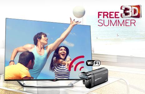LG LA8609, LA7909 oder LA7408 CINEMA 3D Smart TV kaufen - 3D-Camcorder DXG IC330 gratis