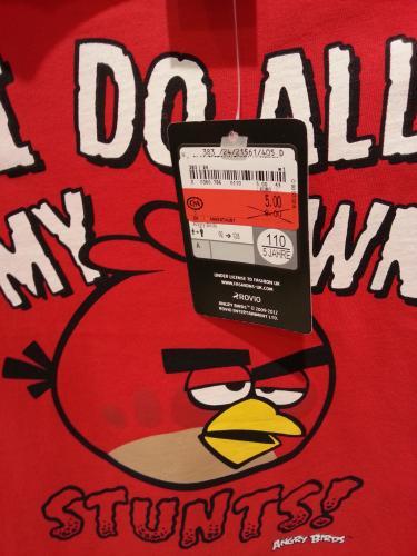 [Lokal] C&A Nürnberg - Langwasser: Angry Birds T-Shirt von Gr. 92 - 110/116 ab 5€