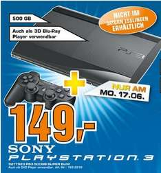 [Lokal - Saturn Stuttgart ] Playstation 3 500GB Super Slim - NUR am 17.06.13