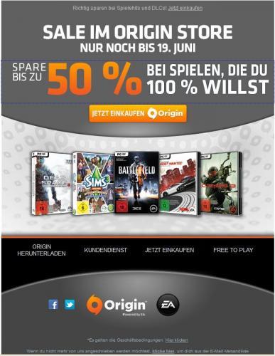 [Origin Sale] bis zu 50% auf ausgewählte Spiele  z.B Need for Speed Most Wanted 9.99€