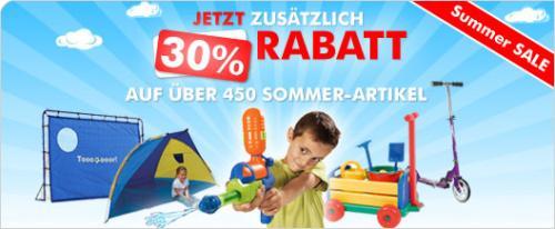 [mytoys.de] 30% Rabatt auf ausgewählte Sommer-Artikel (Spielzeug)