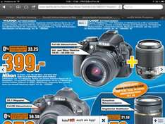 [Lokal Saturn Hamburg] Nikon D 3100 + DX 18-55mm + 55-200mm Digital Spiegelreflexkamera