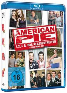 Media-Dealer.de: Liveshopping American Pie - Teil 1,2,3 + Reunion / Limited Edition (Blu-ray) für 24,99 Euro