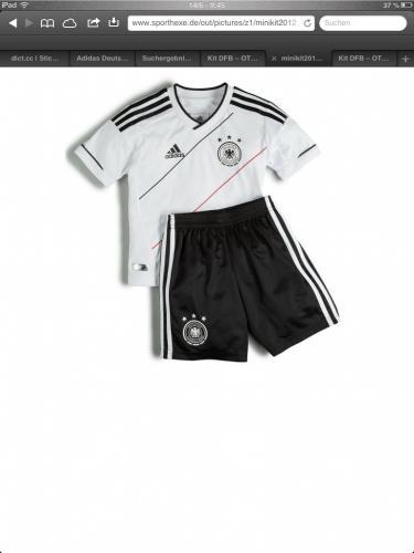 DFB Mini Kit Home 2012; 24,95 mit Neukundengutschein nur 13,70; nur noch in 92 & 98 @ OTTO
