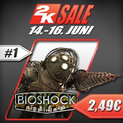 Bioshock (Steam) -75% für nur €2.49  die nächsten 3 Tage - der Klassiker