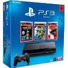 PlayStation 3 Konsole (12 GB) mit DualShock 3 Wireless Controller + Uncharted + God of War 3 + Heavy Rain