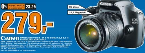 [Saturn Stuttgart] Canon EOS 1100 D Spiegelreflexkamera + EF-S 18-55