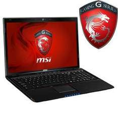 "MSI GE60-i560M247 Gaming Notebook [39,6cm (15.6"") / i5-3230M / 4GB / 750GB / 660M / Win8] für 669,00 € @ Notebooksbilliger"