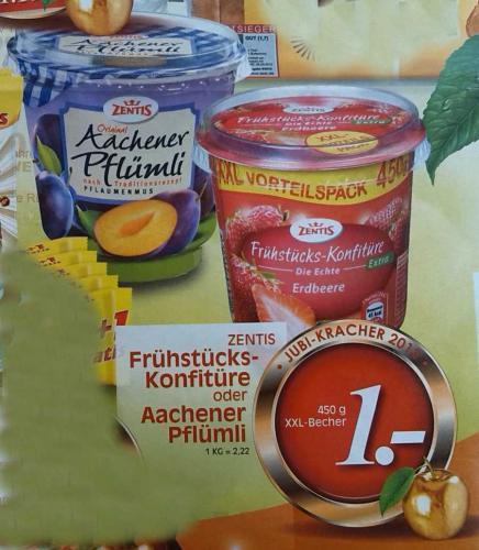 [lokal Rewe Dortmund und Umgebung] Zentis Aachener Pflümli 450g für 1 Euro