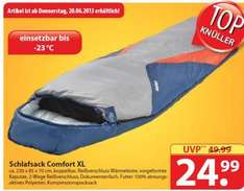 [Lokal] Famila Nord-Ost: Explorer Comfort XL Mumienschlafsack für 24,99 € statt UVP 49,99 €