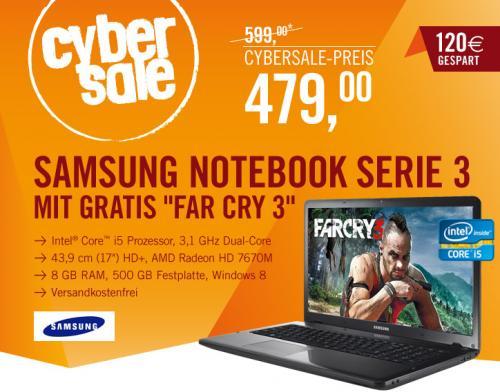 Cybersale: Samsung Notebook Serie 3 350E7C S0B + FarCry 3 gratis