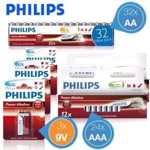 Philips Alkaline Batterien Kombipack 16,95€ + 5,95€ Versand