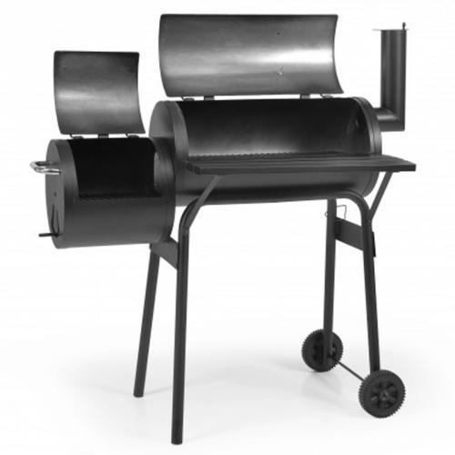 Hecht Minor Schwarz Grillwagen Minor-Smoker die Grillzeit kann kommen