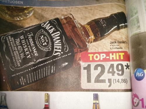 [METRO] Jack Daniels 0,7l 40% für 14,86€