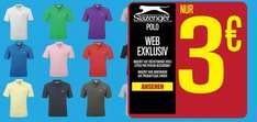 Slazenger Poloshirts für 3€ + 4,99€ Versand bei Sportsdirect
