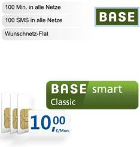 BASE smart classic (Wunsch Flat, Internet Flat, 100 MIN / 100 SMS) effektiv ab 3,04€ / Monat statt 10€ / Monat für ADAC Mitglieder (Dealpreis incl. Galaxy Note 10.1 3G 16GB)