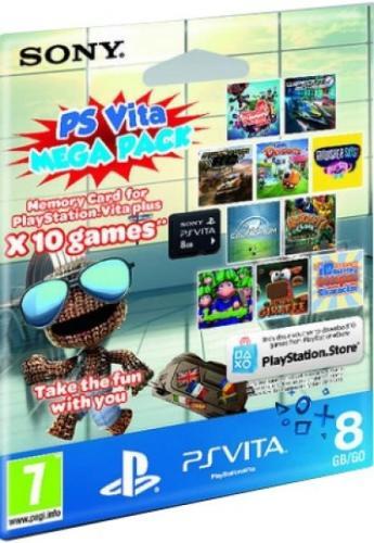 [zavvi.com]Sony Playstation Vita™ - 8GB Speicherkarte + 10 DL Spiele (PlayStation Store) für ca. 30,50€