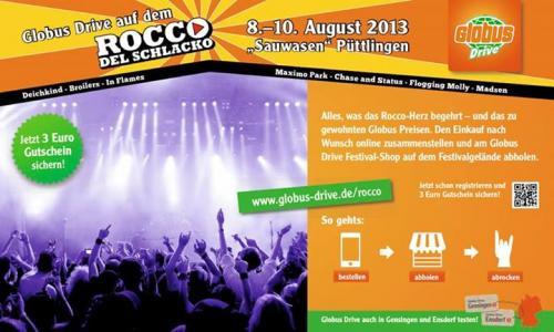 [Saarland: Rocco del Schlacko] Einkäufe direkt aufs Festival liefern lassen + 3 Euro Rabatt