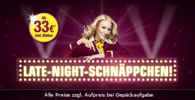 Schnäppchen-Tickets ab 33 € Germanwings