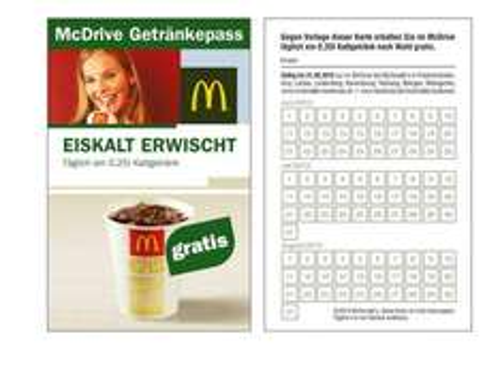 [LOKAL Bodensee FN, RV, LI, etc.] Täglich Gratis 0,25l Kaltgetränk nach Wahl im McDrive bei McDonalds