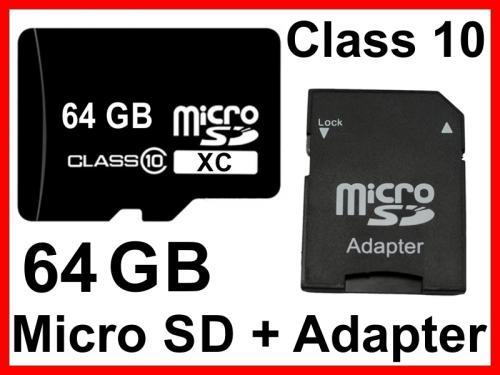 64 GB micro SD Speicherkarte Memory Card SDXC Class 10 für nur 25,- EUR inkl. Versand