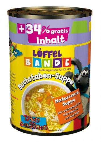 10x Löffelbande Buchstaben-Suppe mit Hühnchen (á 390 ml) für 4,90€