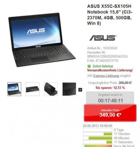 ASUS X55C-SX105H, i3 2.5GHz, 4GB RAM, 500GB HDD 349!!