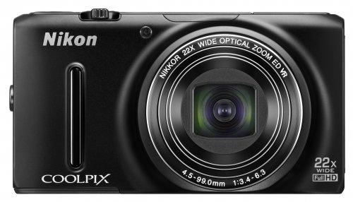Nikon Coolpix S9400 Digitalkamera (18 Megapixel, 18-fach opt. Zoom, 7,6 cm (3 Zoll) OLED-Display, Bildstabilisator) schwarz @MM Mülheim a.d.Ruhr