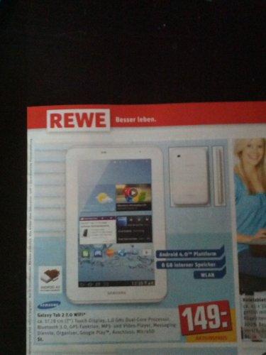 [REWE ab 24.06] Samsung Galaxy Tab 2 7.0 8GB WiFi (Bundesweit) 149€