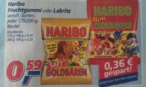 Haribo versch. Sorten bei Real für nur 0,59€ (Bundesweit)