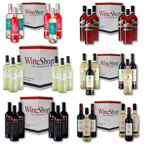 6er Set - Weiß-, Rosé- oder Rotwein aus aller Welt für nur 19,99 Euro statt 39,99 Euro 50 % Rabatt