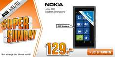 [Saturn Super Sunday] NOKIA Lumia 800 schwarz 16GB