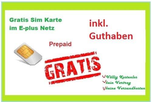 E+ Prepaid Karte inkl. 5€ Guthaben und Internetflat Gratis