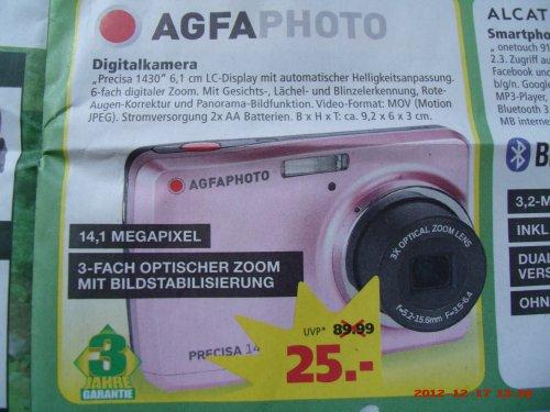 [Lokal Marktkauf Bremen/Stuhr] AgfaPhoto Precisa 1430,Digicam mit 14,1 MP
