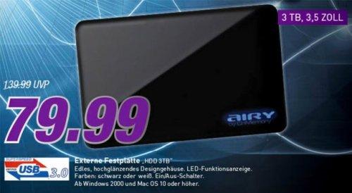 [Lokal Blomberg] CnMemory 3.5 Airy USB 3.0 3TB schwarz bei Marktkauf