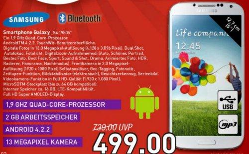 [Lokal Blomberg] Samsung I9505 Galaxy S4 16GB bei Marktkauf