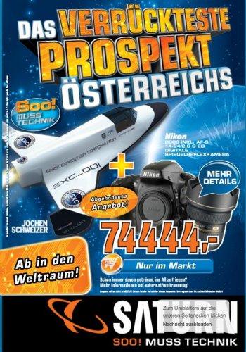 Österreich Saturn Weltall-Flug inklusive Nikon D800 DSLR-Kamera