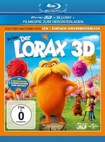 Der Lorax 3D (+ Blu-ray + Digital Copy) für 10€ @Amazon
