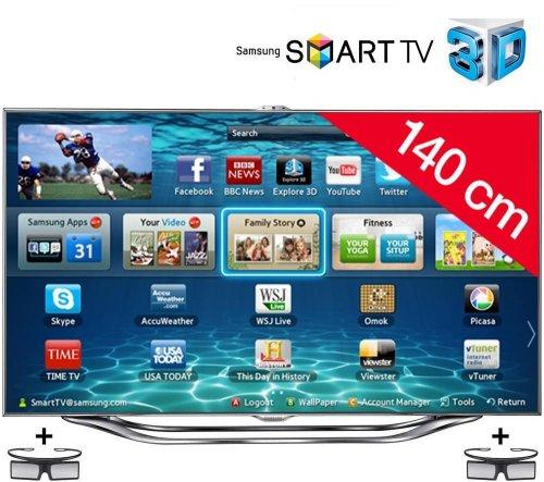Samsung UE55ES8000 140 cm (55 Zoll Display) 3D-Fernseher + 2 Brillen - 1799€